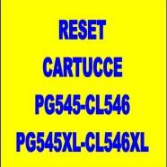 Reset cartucce canon PG545-CL546-PG545XL-CL546XL