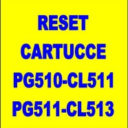 Reset cartucce canon PG510-CL511-PG512-CL513